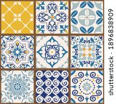 collection of 9 colorful tiles. ... | Shutterstock .eps vector #1896838909