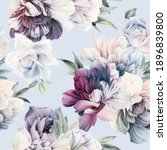 seamless floral pattern with... | Shutterstock . vector #1896839800