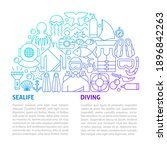 Sealife Diving Line Template....