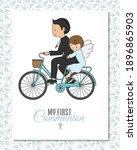 first communion card.  boy...   Shutterstock .eps vector #1896865903