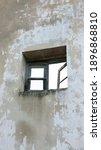 Windows In Weathered Barn Wall