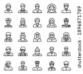 outline icons for professions ... | Shutterstock . vector #1896871789
