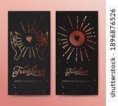 true love web banners  esoteric ... | Shutterstock .eps vector #1896876526