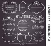 floral design elements ...   Shutterstock .eps vector #189688064
