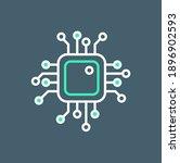simple artificial intelligence... | Shutterstock .eps vector #1896902593
