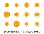 sun icons set flat style   Shutterstock .eps vector #1896905950