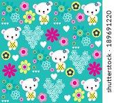 cute teddy bear girl pattern...