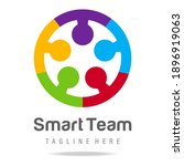 abstract graphic logo smart...   Shutterstock .eps vector #1896919063