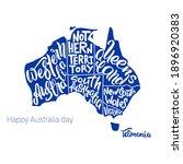 Happy Australia Day. Silhouette ...