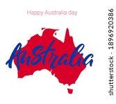 happy australia day. australia...   Shutterstock .eps vector #1896920386