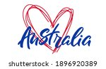 Australia Lettering  With Heart....