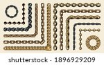 colorful collection of chain... | Shutterstock .eps vector #1896929209