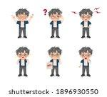 set of cute boy avatar... | Shutterstock .eps vector #1896930550