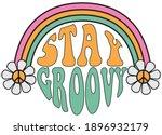 70s hippie stay groovy slogan... | Shutterstock .eps vector #1896932179