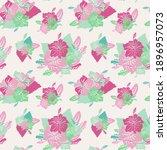 elegant seamless pattern with... | Shutterstock .eps vector #1896957073