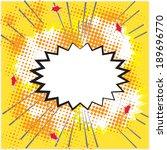 blank comic bubble speech in...   Shutterstock .eps vector #189696770