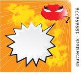blank comic bubble speech in... | Shutterstock .eps vector #189696776