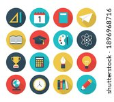 set of education on circles and ... | Shutterstock .eps vector #1896968716