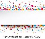 colorful celebration background ... | Shutterstock .eps vector #189697109