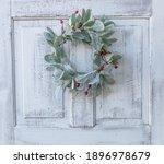 Antique White Door With Lamb's...