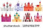 cartoon medieval castles.... | Shutterstock .eps vector #1896986599