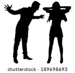 boy yelling at his girlfriend ... | Shutterstock .eps vector #189698693