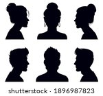 male and female head... | Shutterstock .eps vector #1896987823