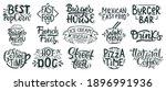 fast food lettering. junk ... | Shutterstock .eps vector #1896991936