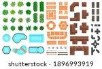 architectural landscape items.... | Shutterstock .eps vector #1896993919