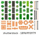 outdoor landscape elements.... | Shutterstock .eps vector #1896993979
