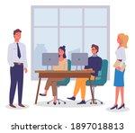 office worker characters...   Shutterstock .eps vector #1897018813