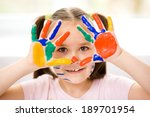 portrait of a cute cheerful... | Shutterstock . vector #189701954