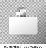3d blank white round wobbler....   Shutterstock .eps vector #1897038190