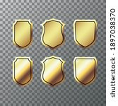 retro golden ribbons labels and ...   Shutterstock .eps vector #1897038370