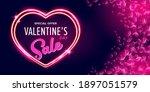 valentines day sale horizontal...   Shutterstock .eps vector #1897051579