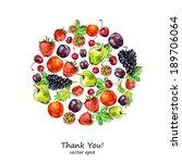 watercolor fruit for your... | Shutterstock .eps vector #189706064