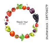 watercolor fruit for your... | Shutterstock .eps vector #189706079