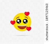 love emoji icon. happy emotion. ... | Shutterstock .eps vector #1897125463