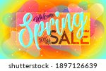 spring sale banner. abstract... | Shutterstock .eps vector #1897126639