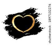 gold glitter hearts on black... | Shutterstock .eps vector #1897132276