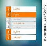 white and orange menu   website ... | Shutterstock .eps vector #189714440