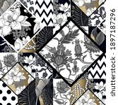 seamless pattern in patchwork... | Shutterstock .eps vector #1897187296