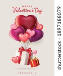 valentine's day sale background....   Shutterstock .eps vector #1897188079
