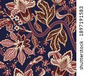 ethnic seamless pattern with...   Shutterstock .eps vector #1897191583