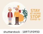 family elderly people stay at... | Shutterstock .eps vector #1897193950