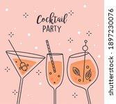 cocktails party design over...   Shutterstock .eps vector #1897230076
