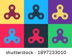 Pop Art Fidget Spinner Icon...