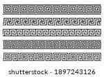 greek roman pattern border... | Shutterstock .eps vector #1897243126
