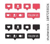 set of social media...