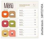 restaurant menu design | Shutterstock .eps vector #189727454